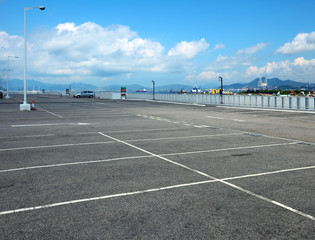 Outdoor car park
