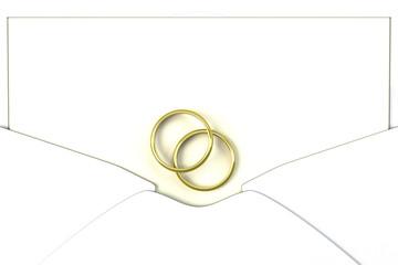メッセージカードと2つの指輪