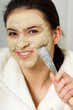 remove a face mask with a chisel