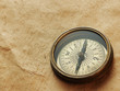 old compass on vintage background
