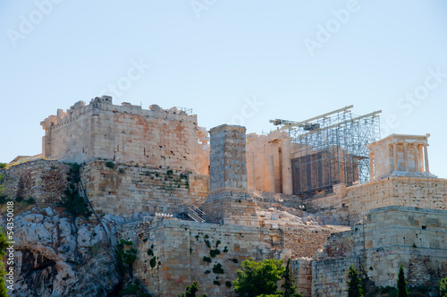 View of the Acropolis in Athens, Greece
