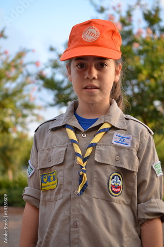 An Israel Girl Scout on the way to summer camp