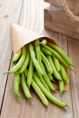 Organic pole beans