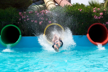 Fun on the Waterslide