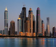 Dubai Marina skyline as seen from Palm Jumeirah, UAE