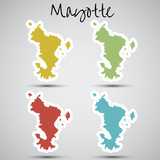 stickers in form of Mayotte