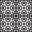 Black lace on white, seamless pattern