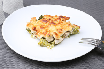 Сasserole with chicken and broccoli