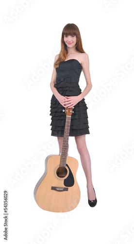 девушка с гитарой, музыка