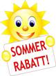 Sommerrabatt Sonne Schild