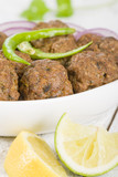 Kofta - South Asian meatballs with green chilies and red onion