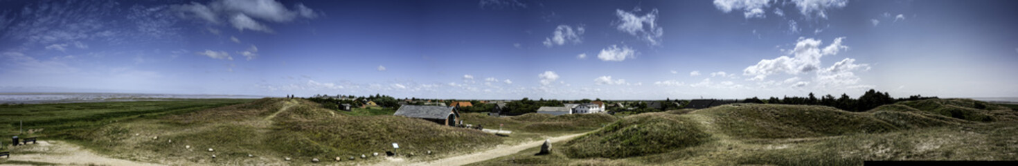Panorama of the island Mando, Denmark