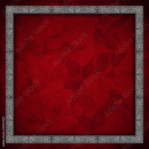 Red Velvet Background - Roses Flowers