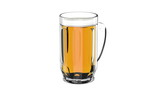 Beer mug rotates on a white background