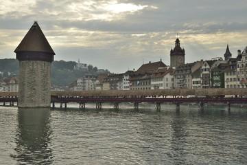 Lucerna fiume Reuss e Kappelbrucke
