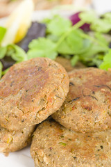 Shami Kebab - Minced meat and chana dal patties. Indian food,