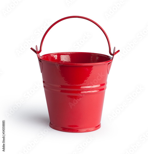 Bucket. Isolated with clipping path