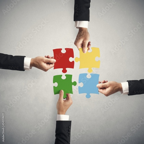 Teamwork and partnership concept