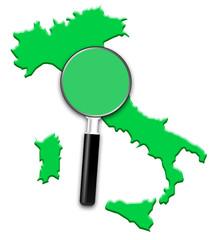 carte Italie, loupe