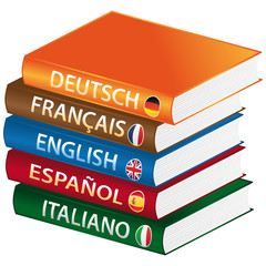 Foreign languages books icon.