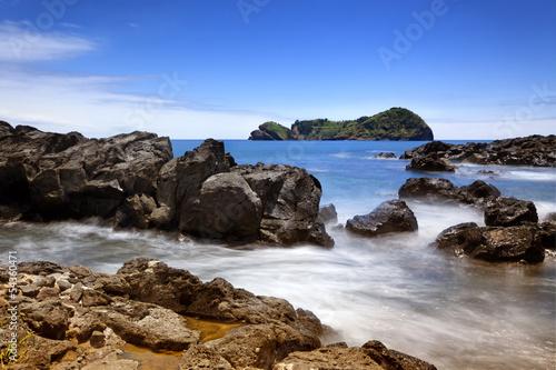 Rocky coast and islet of Vila Franca do Campo, Azores