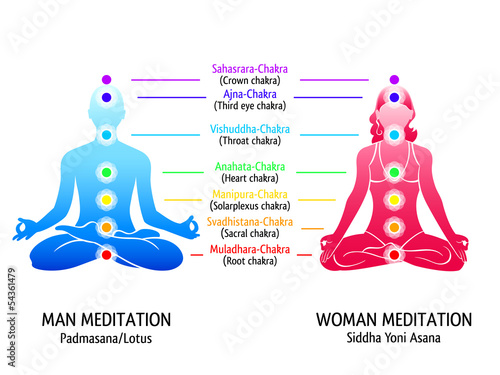 Yoga chakras diagram