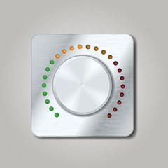 Square volume knob