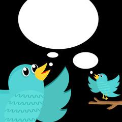 Two Bird tweet .Vector illustration