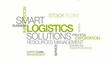 Logistics management solutions word text tag cloud animation