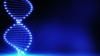 Abstract blue DNA