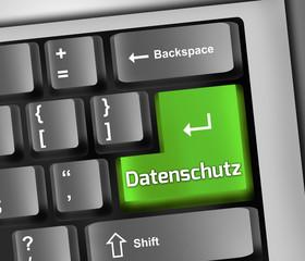 """Keyboard Illustration """"Datenschutz"""""""
