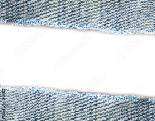 jeans texture over white background