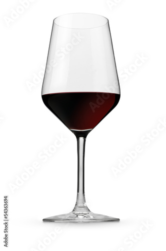 Red italian wine in a glass