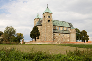 The Romanesque church in Tum village, Poland