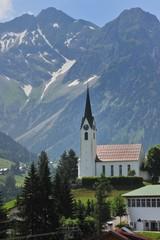 Kirche in Hirschegg Klein Walsertal