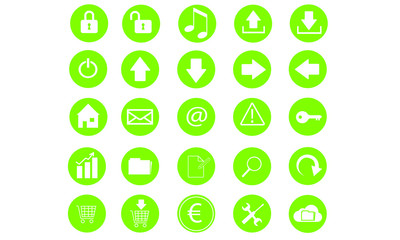 Green Internet Icons