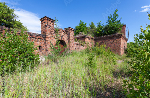 Prussian fortress ruins in Gdansk.