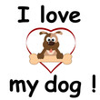I love my dog
