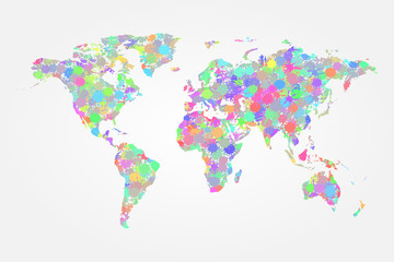 World map splash vector illustration
