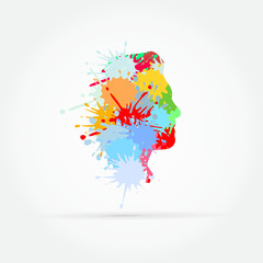 Vector profile made from splashes