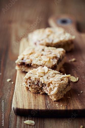 Homemade Flapjacks with Almonds