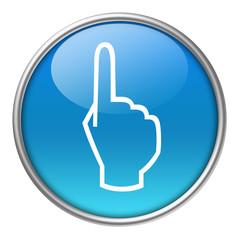Bottone vetro mano indice