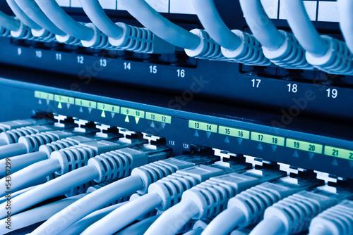 Leinwanddruck Bild Netzwerk Hub