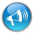 Bottone vetro megafono