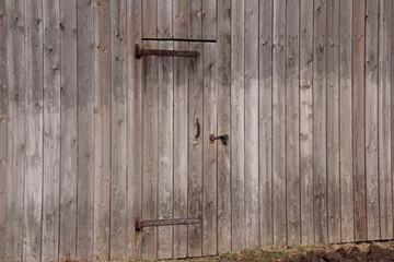 Scheunenwand mit Tür