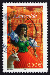 Postage stamp France 2003 Esmeralda, from Notre Dame de Paris