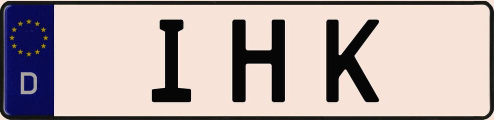 KFZ-Kennzeichen IHK