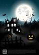 Halloween night - vector poster