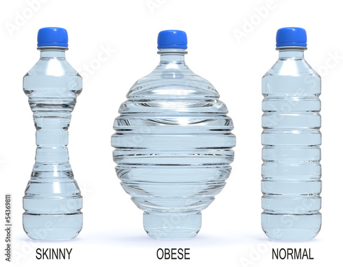 Bottles, normal, obese and skinny