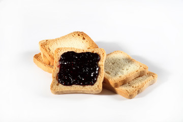 group biscuits with jam